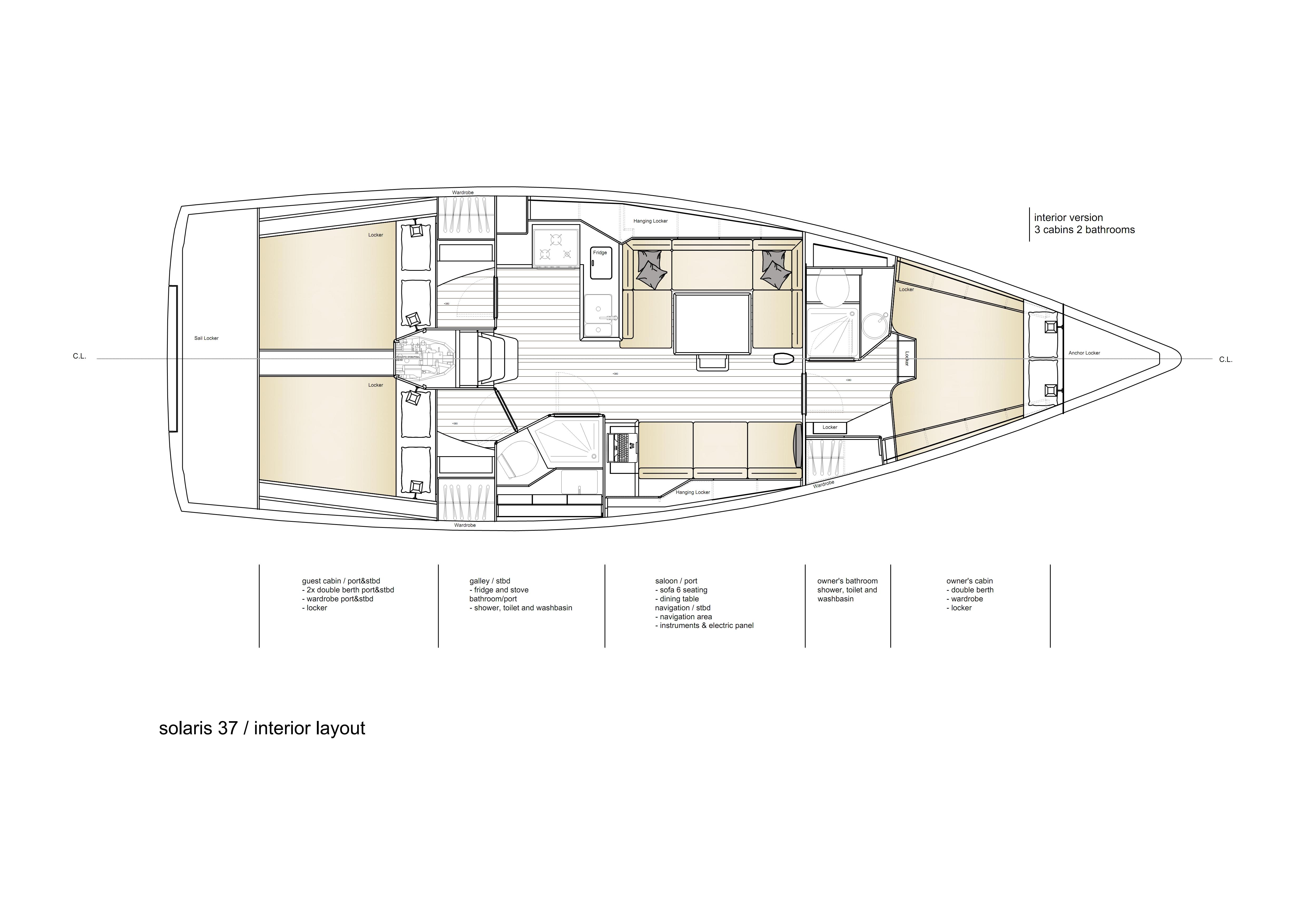Solaris 37 | Eleganter Performance-Cruiser aus Italien